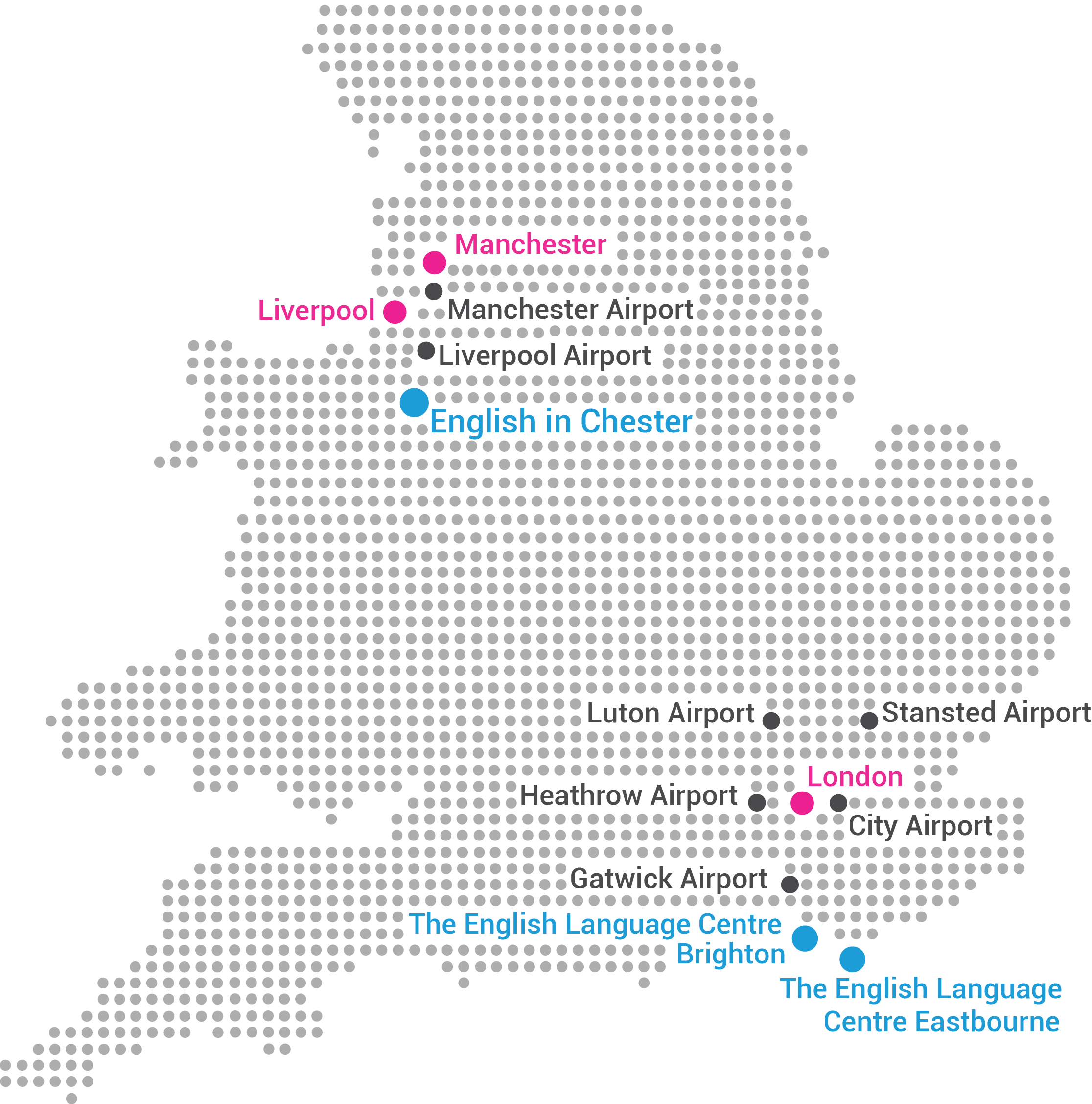 UK map with 3 schools